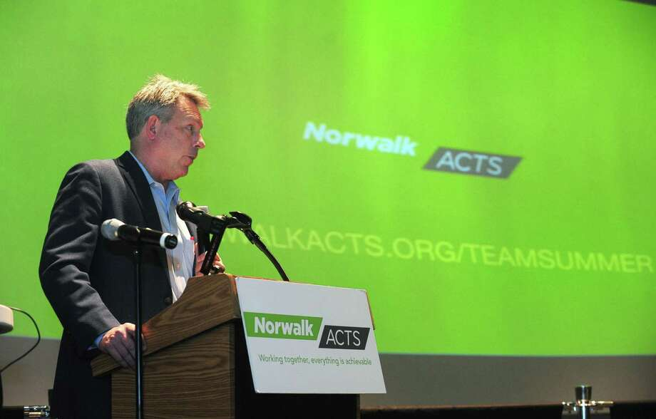 Anthony Allison, Norwalk ACTS executive director, speaks during the TEAM Summer Community Awareness Campaign Press Conference on April 5, 2017 at Stepping Stones Museum for Children in Norwalk. Photo: Erik Trautmann / Hearst Connecticut Media / Norwalk Hour