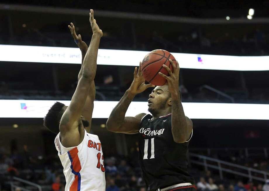 Cincinnati's Gary Clark (11) is second in the league in rebounding. Photo: Mel Evans / Associated Press / FR171525 AP