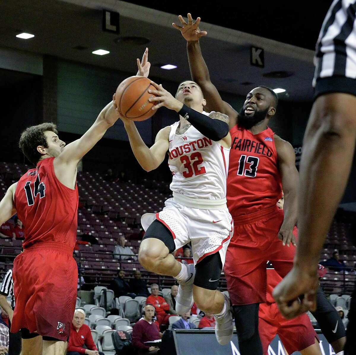 Houston guard Rob Gray (32) is the AAC's leading scorer.