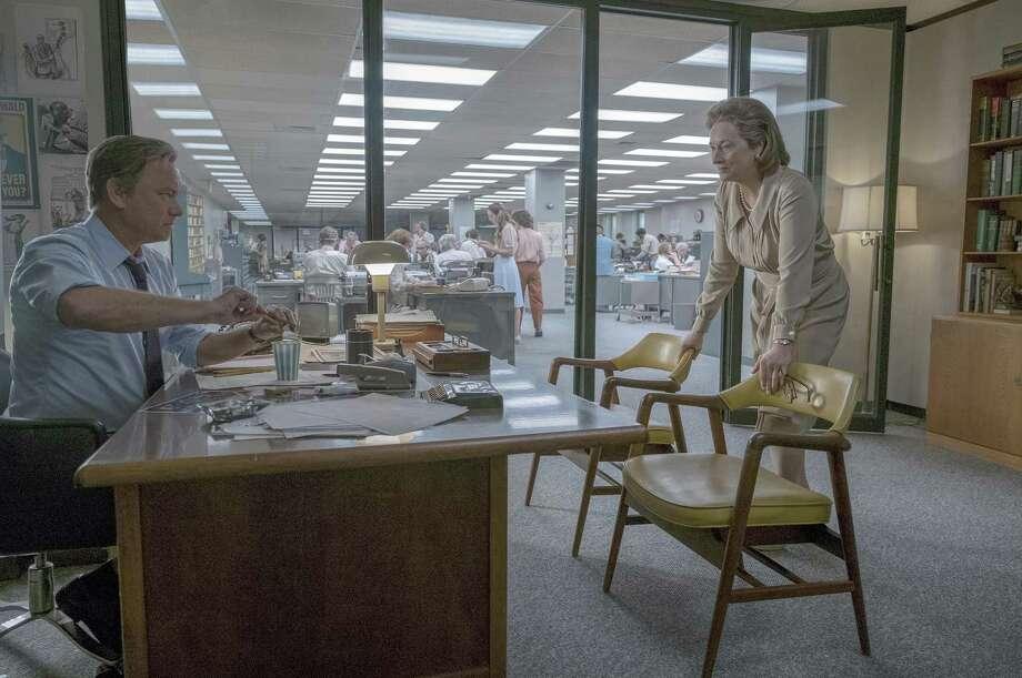"Tom Hanks as Ben Bradlee and Meryl Streep as Katharine Graham in ""The Post."" This movie is an antidote to the toxic mantra of ""fake news."" Photo: Niko Tavernise /20th Century Fox / © 2017 TWENTIETH CENTURY FOX FILM CORPORATION AND STORYTELLER DISTRIBUTION CO. LLC."