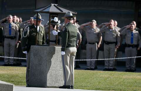 Sea of law enforcement joins family in mourning CHP officer - SFGate