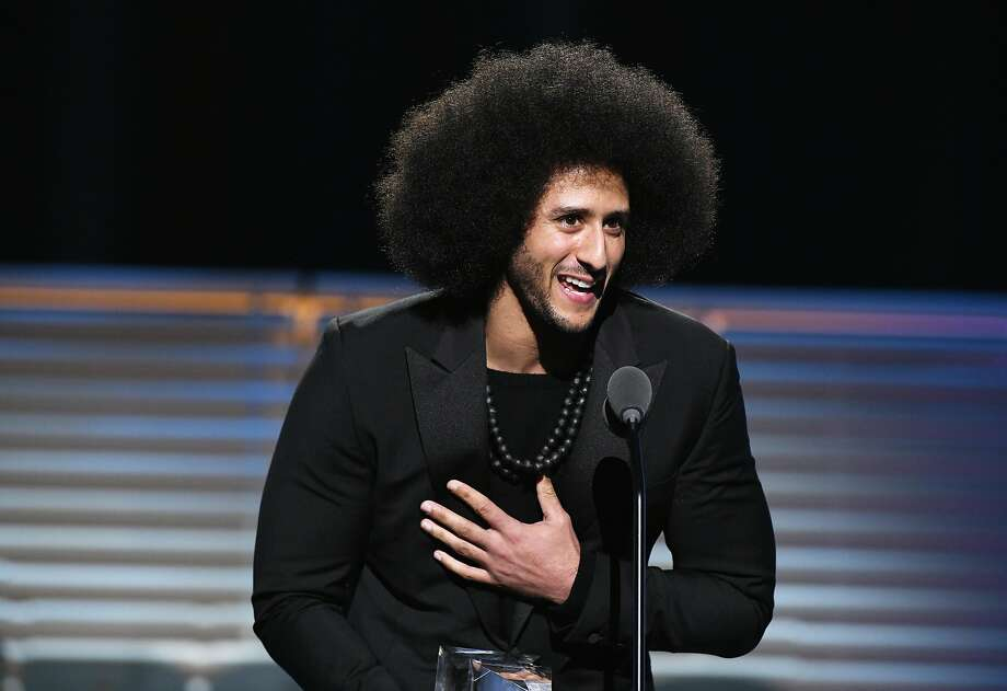 NEW YORK, NY - DECEMBER 05:  Colin Kaepernick receives the SI Muhammad Ali Legacy Award during SPORTS ILLUSTRATED 2017 Sportsperson of the Year Show on December 5, 2017 at Barclays Center in New York City.  (Photo by Slaven Vlasic/Getty Images for Sports Illustrated) Photo: Slaven Vlasic, Getty Images For Sports Illustrated