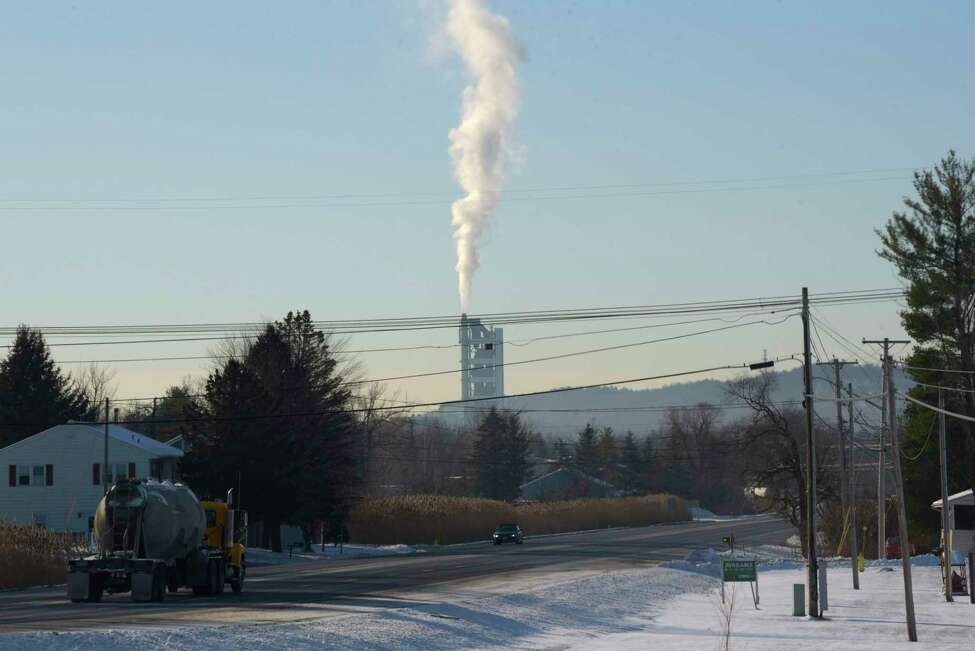 A view of the Lafarge Ravena Cement Plant, seen in the background, on Wednesday, Dec. 27, 2017, in Ravena, N.Y. (Paul Buckowski / Times Union)