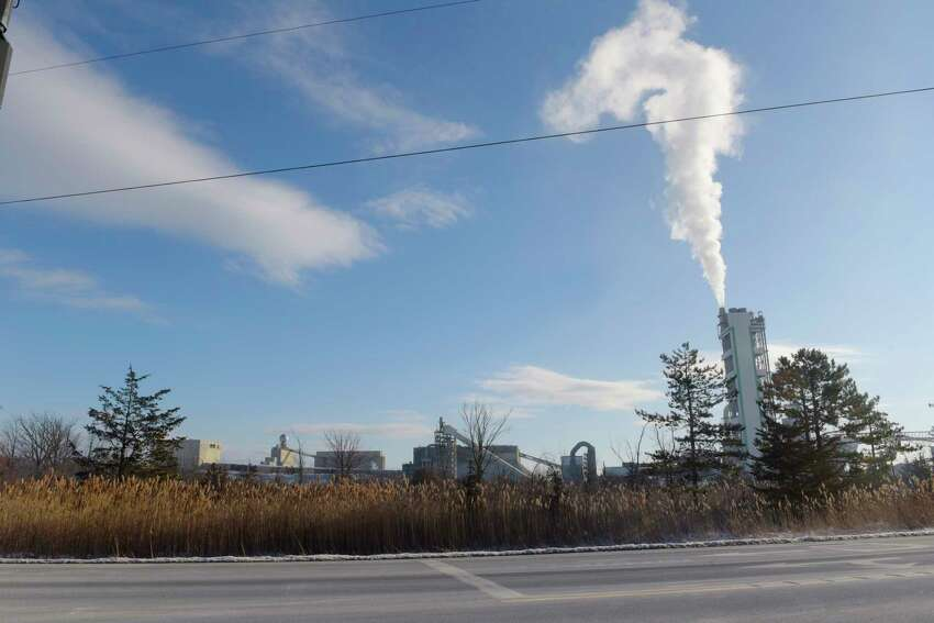 LafargeHolcim, owners of a cement plant on Route 9W in Coeymans, are urging defeat of a proposed town law that could prevent the firm from burning waste tires as part of the making of cement. (Paul Buckowski /Times Union archives)