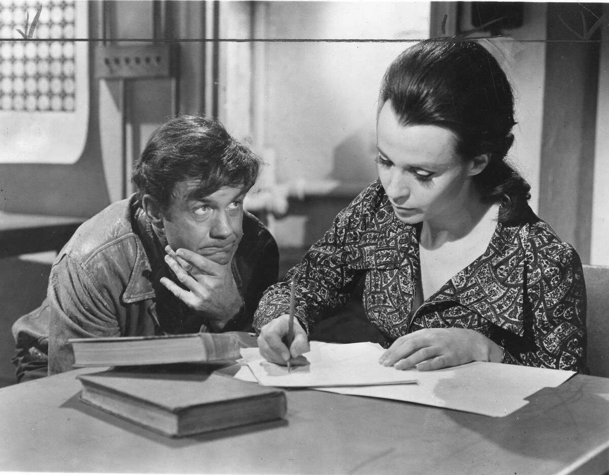 Cliff Robertson and Claire Bloom in the movie Charly Handout