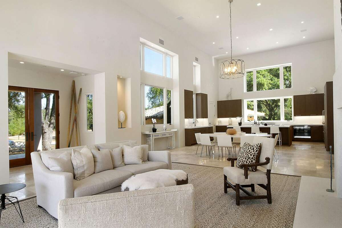 The Sonoma home features an open floor plan with double-height ceiling.