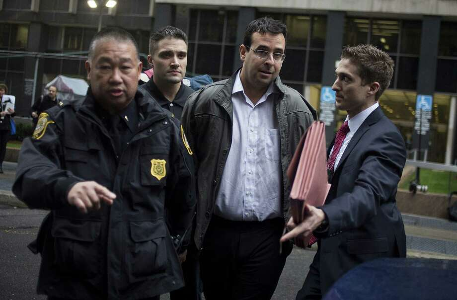 Attorney Evan Greebel exits federal court in New York, U.S., on Thursday, Dec. 17, 2015. Greebel is accused of conspiring with Martin Shkreli, chief executive officer of Turing Pharmaceuticals LLC, who was arrested on alleged securities fraud related to Retrophin Inc., a biotech firm he founded in 2011. Photographer: John Taggart/Bloomberg *** Local Caption *** Evan Greebel Photo: John Taggart / © 2015 Bloomberg Finance LP