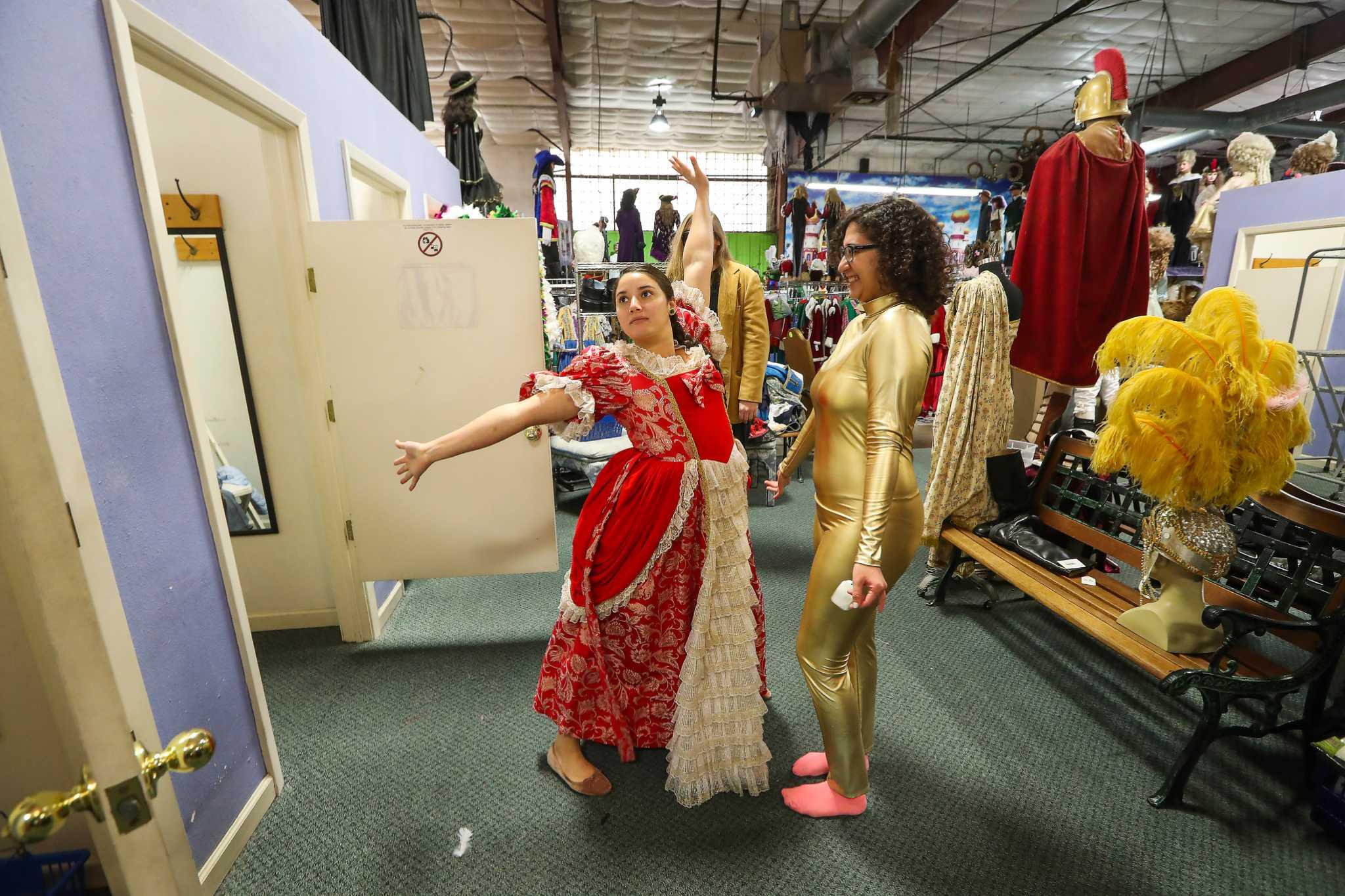 frankel's costume shop planning last garage sale - houston chronicle