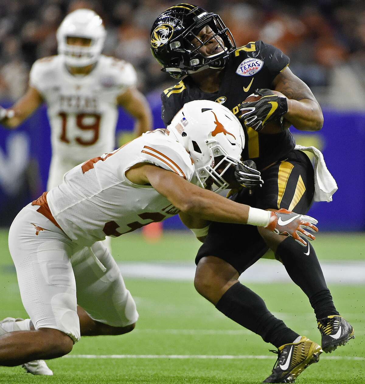 DB Jason Hall, Texas Hall finished his four-year career at Texas with 162 total tackles, three interceptions, five sacks and 10 passes defensed.