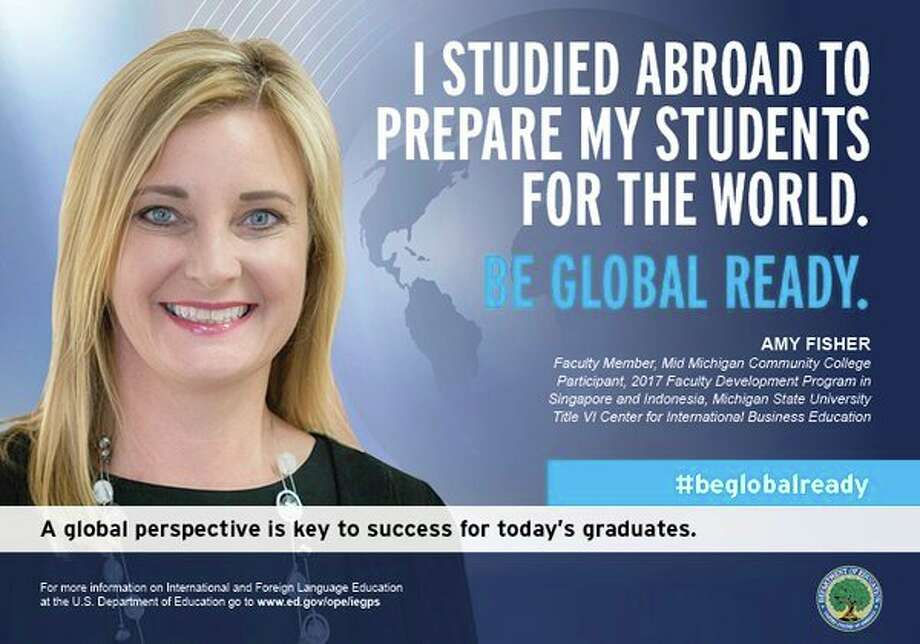 Mid Michigan Community College Faculty Member Amy Fisher is featured in a national campaign to promote global readiness by the U.S. Department of Education. (Image provided)