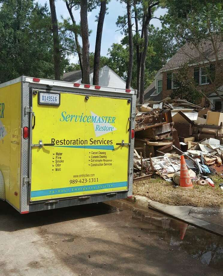 A crew of four technicians and two project managers from ServiceMaster Tri-Cities Disaster Restoration Services went to Texas to aid homeowners after Hurricane Harvey hit the Greater Houston area. (Photo courtesy of ServiceMaster)