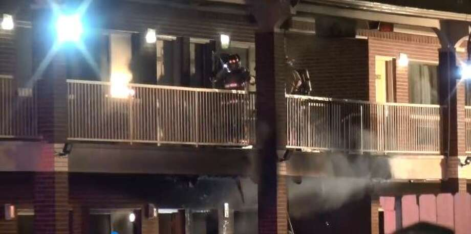 A fire broke out early Dec. 28 at the Garden Suites Hotel in northwest Houston. Photo: Courtesy: Metro Video