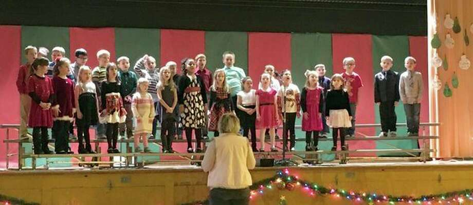 It was a packed house, with standing room only, as North Huron Elementary students got into the holiday spirits at their Christmas concert recently. (Submitted Photo)