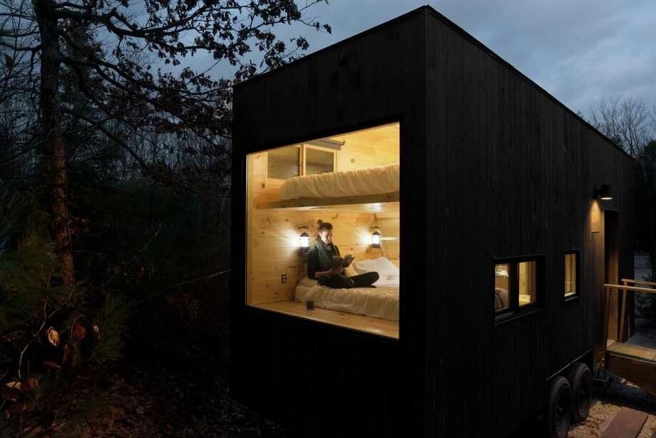 """Getaway markets its tiny homes in the woods as a way to """"rediscover the pleasure of boredom, solitude and unstructured time."""" Photo: Photo Courtesy Of Getaway. / The Washington Post"""