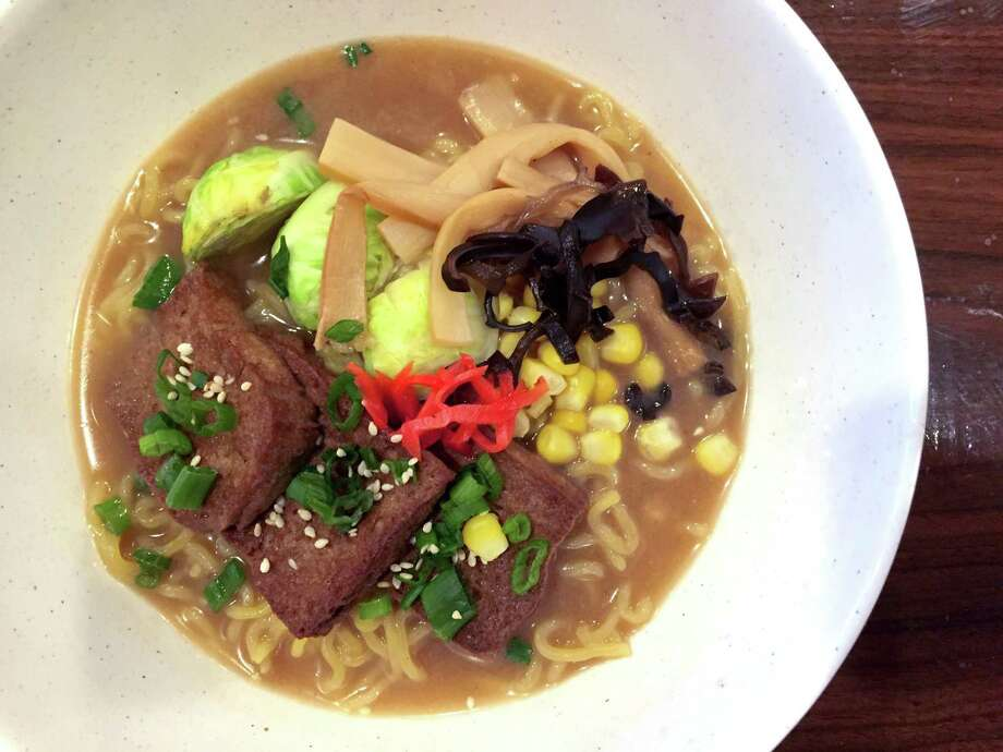 Veggie ramen at J.Y. Ramen. Photo: Paul Stephen / San Antonio Express-News