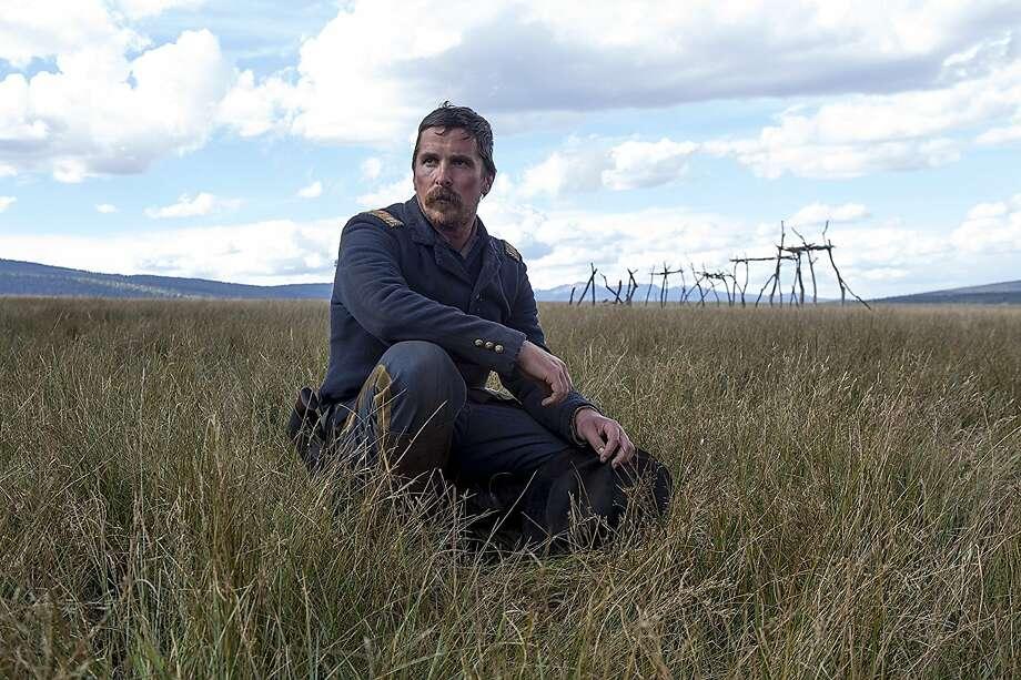 "Christian Bale takes some time to think in ""Hostiles."" Photo: Lorey Sebastian, Entertainment Studios Motion Pictures"