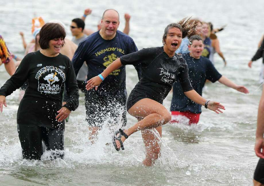 Bathers braced themselves for the cold Saturday when they jumped into the cold water for 11th Annual Lake George Polar Plunge, a benefit for Special Olympics of New York. The event was held at Shepard's Park Beach, Lake George on Saturday, Nov. 18, 2017.