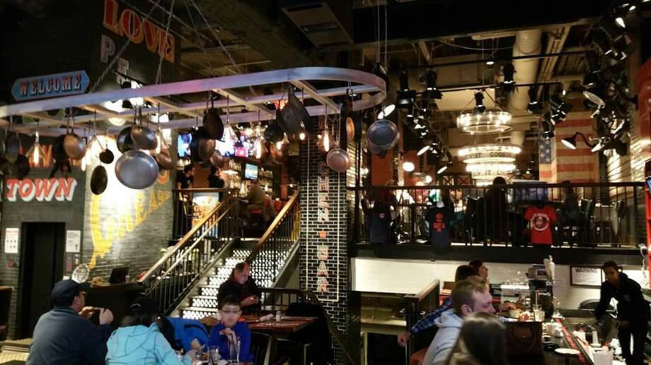The interior of Guy Fieri's American Kitchen and Bar in New York City. Photo: Ray D. Via Yelp