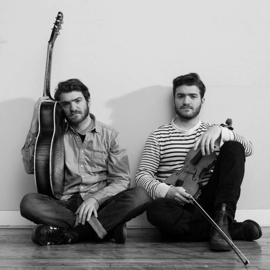 "The Brother Brothers — identical twins Adam and David Moss — will bring acoustic music and sibling harmonies to the First Presbyterian Church Hall Friday in the first CT Folk ""Folk Fridays"" show of 2018. Photo: Contributed"