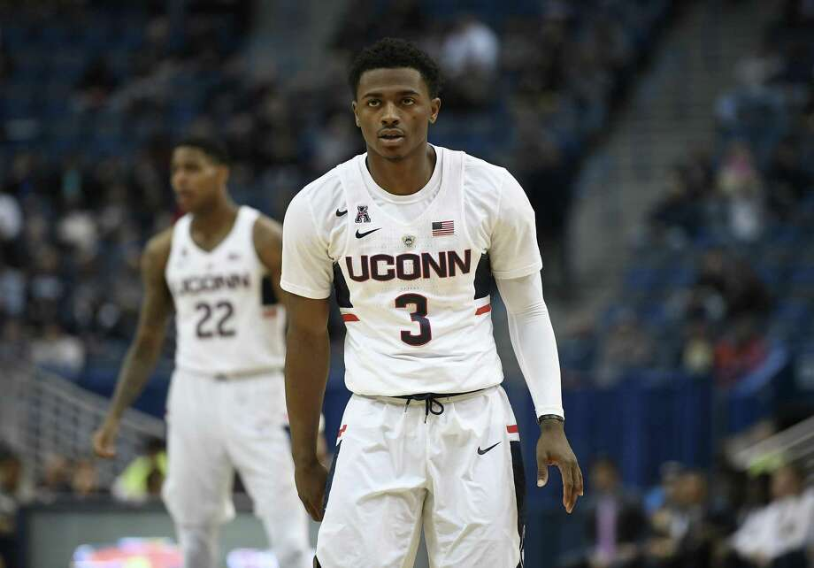 UConn's Alterique Gilbert will miss the remainder of the season with a shoulder injury. Photo: Associated Press File Photo / AP2017