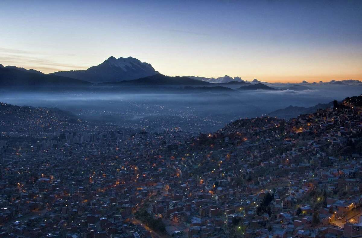 The view from El Alto in Bolivia, where travelers can help the Fuller Center replace unsafe mud and straw huts with sturdier housing.