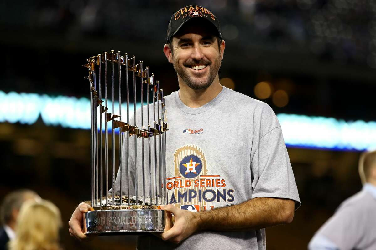 ASTROS WON THE TRADE 8/31/2017 Traded OF Daz Cameron, P Franklin Perez and C Jake Rogers to Tigers for P Justin Verlander (pictured) and OF Juan Ramirez The Astros likely don't win the 2017 World Series without Verlander, who was the ALCS MVP against the Yankees. The Tigers recently promoted Rogers to the big leagues, while Cameron is struggling at AAA and the 21-year-old Perez is still in Class A.