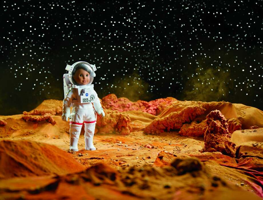 American Girl new doll, Luciana, is an aspiring astronaut who wants to be the first person to go to Mars. The doll launched Jan. 1, 2018, and comes with STEM-inspired clothing and accessories including a space suit and Mars habitat. Photo: Courtesy Of American Girl/Mattel Inc.