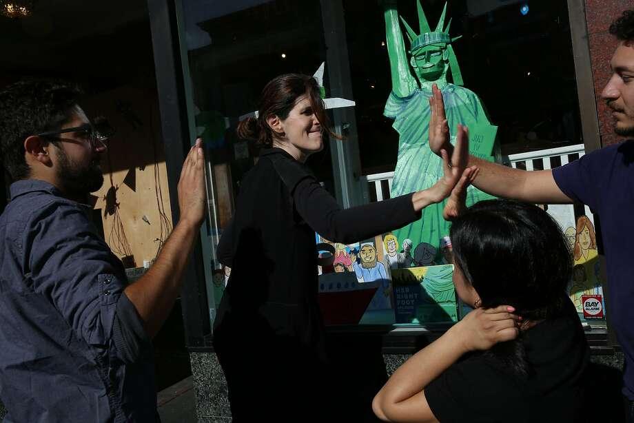 From left: Jeff Gomez, Charlotte Nagy, Loreny De Leon and Leo Nava at Charlie's Corner bookstore on Tuesday, Nov. 28, 2017, in San Francisco, Calif. Photo: Santiago Mejia, The Chronicle