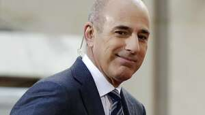 "FILE - In this April 21, 2016, file photo, Matt Lauer, co-host of the NBC ""Today"" television program, appears on set in Rockefeller Plaza in New York. Lauer was one of the top searches on Google in 2017. (AP Photo/Richard Drew, File)"