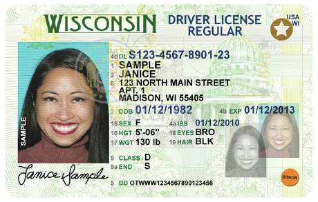 Real ID compliant licenses have a gold and white star in upper right corner