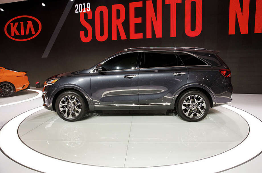 The Kia Motors Corp. 2019 Sorento will have a 3.3 liter V6 with a new 8-speed automatic transmission, according to Kia. The vehicle will also have a wireless charging tray for compatible phones nad 630-watt, 10-speaker stereo system. Photo: Bloomberg/Bloomberg Via Getty Images