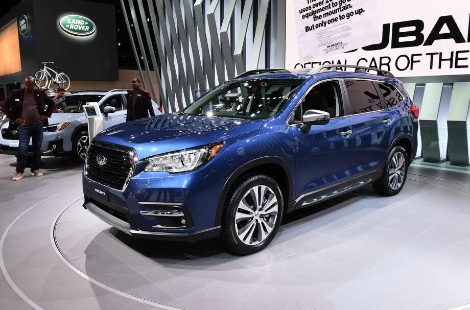 "The 2019 Subaru Ascent will come with a 260 horsepower engine and seven seats, according to the car manufacturer. The vehicle will also come with an X-Mode feature, ""which optimizes the Symmetrical All-Wheel Drive system for maximum traction on slippery surfaces,"" according to Subaru. Photo: Kevork Djansezian/Getty Images"