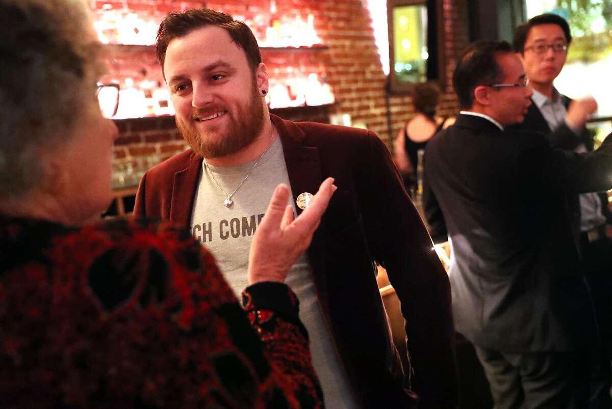 Stuart Schuffman, aka, Broke-Ass Stuart, at Swig in San Francisco, Calif., on Tuesday, December 19, 2017.