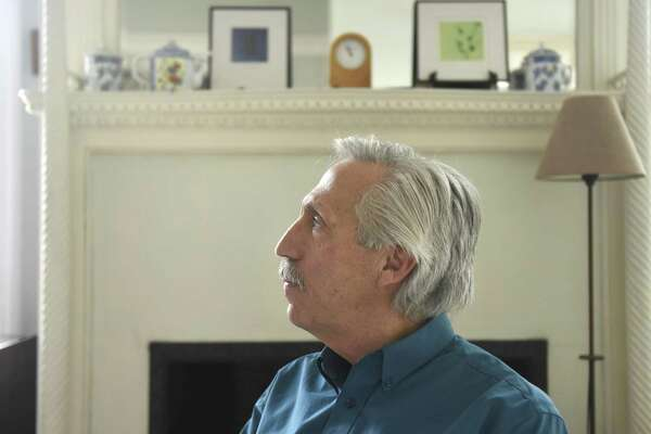 Former Director of Family Re-Entry Stephen Lanza, who frequently works as a counselor to domestic abusers, sits in the Norwalk office of his marriage and family therapy practice, December 4, 2017.