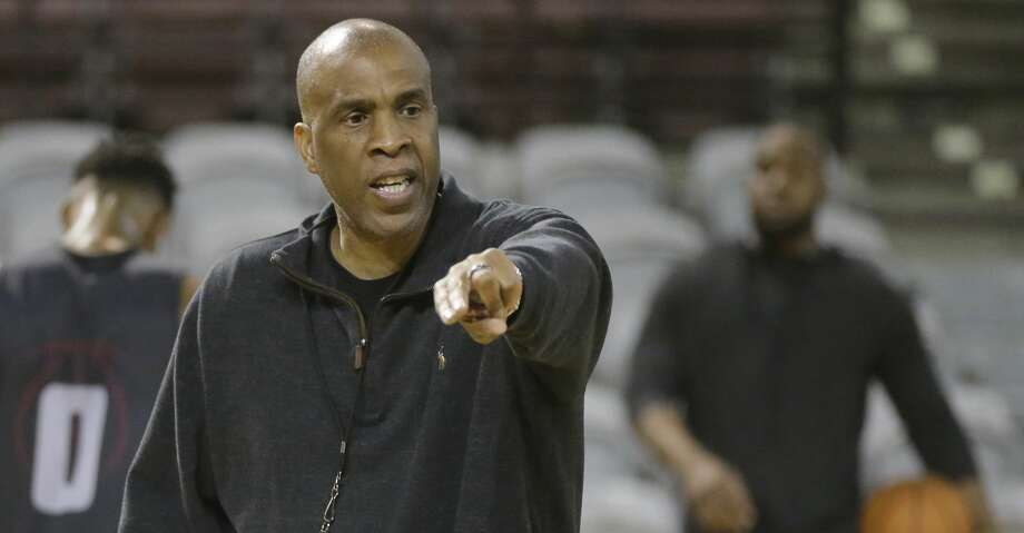Mike Davis, Texas Southern University basketball head coach, is shown during practice at TSU Wednesday, Nov. 8, 2017, in Houston.  ( Melissa Phillip / Houston Chronicle ) Photo: Melissa Phillip/Houston Chronicle
