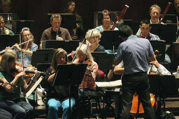 The San Antonio Symphony rehearses in the Tobin Center for the Performing Arts in 2016. The symphony musicians' contract expires at the end of the year, though they are holding out hope for a last-minute agreement.