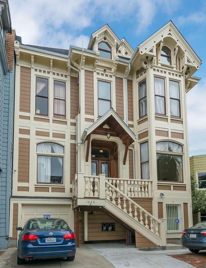 1880 Turk St. is a nine-bedroom Victorian available for $3.9 million. Photo: Olga Soboleva / Vanguard Properties