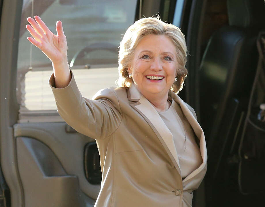 "FILE - In this Nov. 8, 2016 file photo, Democratic presidential candidate Hillary Clinton waves as she arrives to vote at her polling place in Chappaqua, N.Y. Vanity Fair is trying to defuse criticism of a video mocking Clinton and her presidential aspirations. In a statement Wednesday, Dec. 27, 2017, the magazine said the online video was an attempt at humor that regrettably ""missed the mark."" (AP Photo/Seth Wenig, File) Photo: Seth Wenig / Copyright 2017 The Associated Press. All rights reserved."