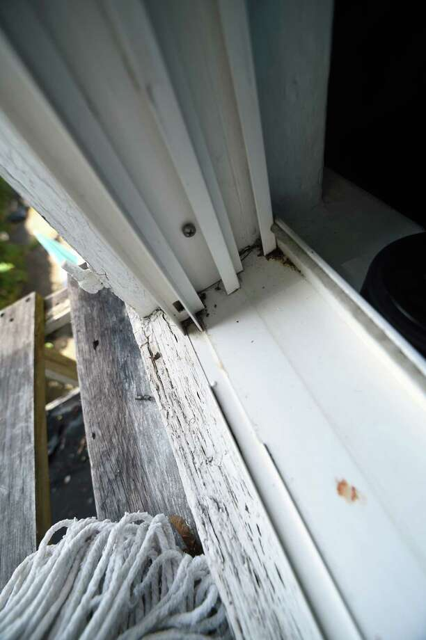 A window sill at the second floor apartment of Gloria Montero on Whalley Ave. in New Haven, Conn. on Wednesday, August 23, 2017. Photo: Arnold Gold, Staff Photographer / New Haven Register