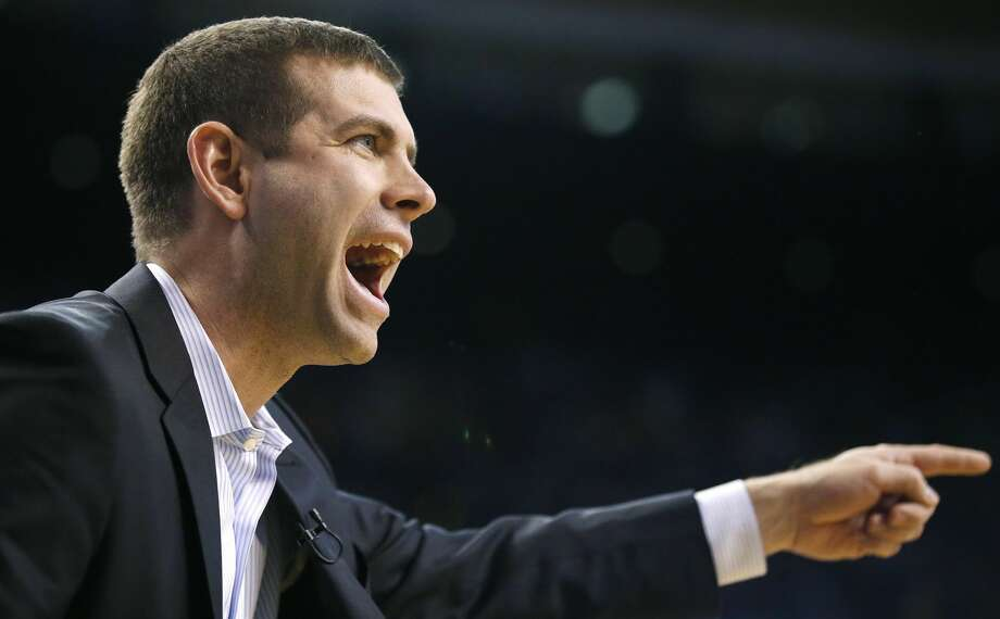 Brad Stevens took the Celtics to the No. 2 record in the East despite an opening night injury to Gordon Hayward. Photo: Michael Dwyer/Associated Press