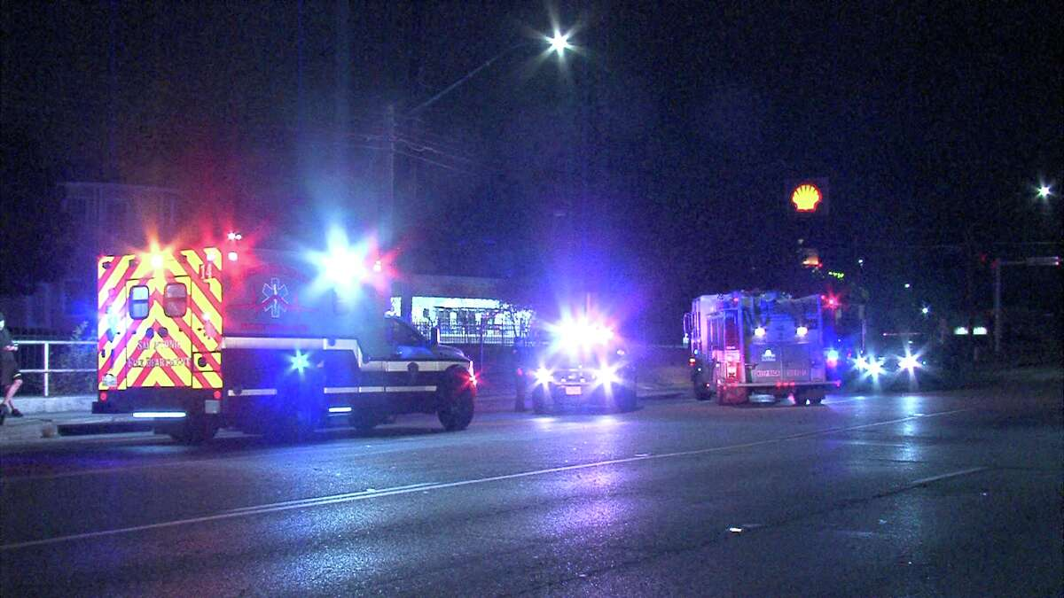 The driver hit the pedestrian around 3:50 a.m. near Thousand Oaks and Uhr Lane. Police said they're not sure if the pedestrian was trying to cross the street or just walking in the road way.