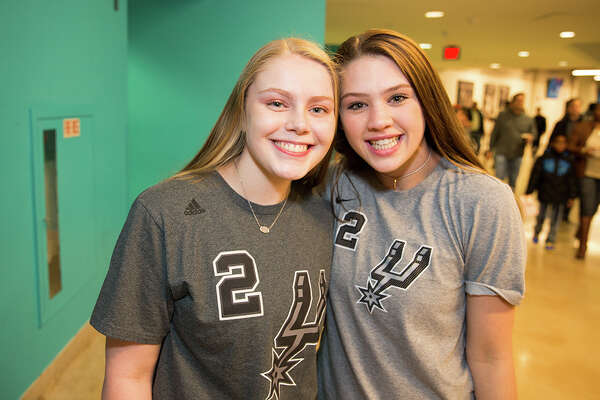 Spurs fans rooted the Silver & Black into victory -- and tried to stay warm -- at the last home game of 2017 on Thursday, Dec. 28, 2017 at the AT&T Center. Superstar Kawhi Leonard may have been sitting on the bench for the game, but Danny Green carried the night with 3-pointers all round. The Spurs won 119-107.