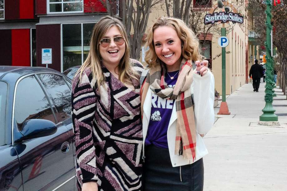 Cold weather didn't deter dueling TCU and Stanford fans attending pre-Alamo Bowl festivities at Sunset Station on Thursday, Dec. 28, 2017. The Valero Alamo Bowl fan zone offered games, food trucks and music as attendees waited for kick-off Photo: Jason Gaines