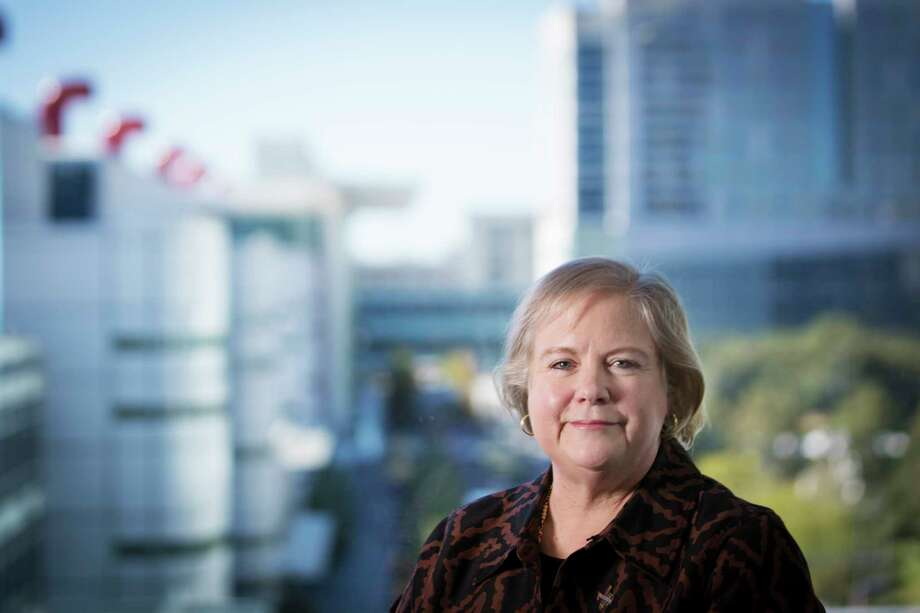 Dawn R. Ullrich stands by a window near the George R. Brown Convention Center. Ullrich started as president and chief executive officer of Houston First Corporation in 2011. Taken Thursday, Oct. 26, 2017, in Houston. ( Marie D. De Jesus / Houston Chronicle ) Photo: Marie D. De Jesus, Staff / © 2017 Houston Chronicle