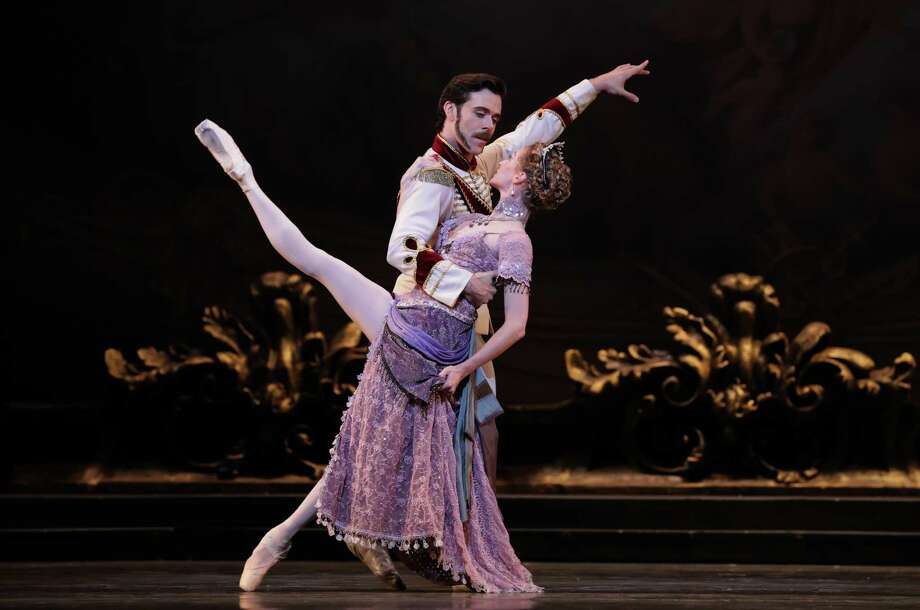 """Connor Walsh (Prince Rudolf) and Sara Webb (Countess Marie Larish) were among the talents who made Houston Ballet's premiere of Sir Kenneth MacMillan's """"Mayerling"""" a night to remember. Photo: Amitava Sarkar / 2017"""