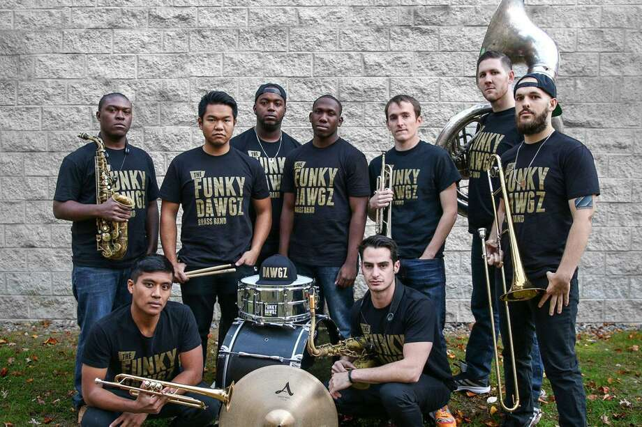 Funky Dawgz Brass Band is at New Haven's Cafe Nine Jan. 8. Photo: Tommy Trevenet / Contributed Photo