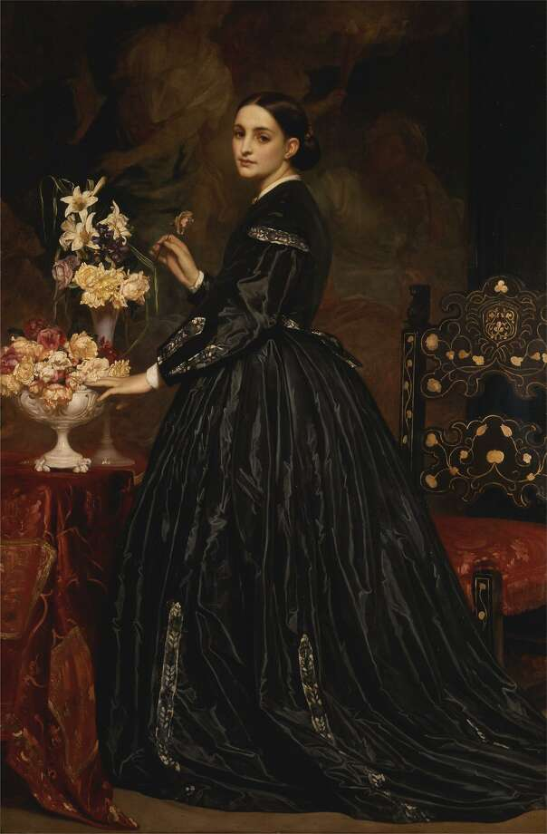 "Frederic Leighton's ""Mrs. James Guthrie"" 1865, oil on canvas, is on view at at Yale Center for British Art in New Haven. Photo: Richard Caspole /Digital Image: Yale Center For British Art / Contributed Photo / Yale Center for British Art"