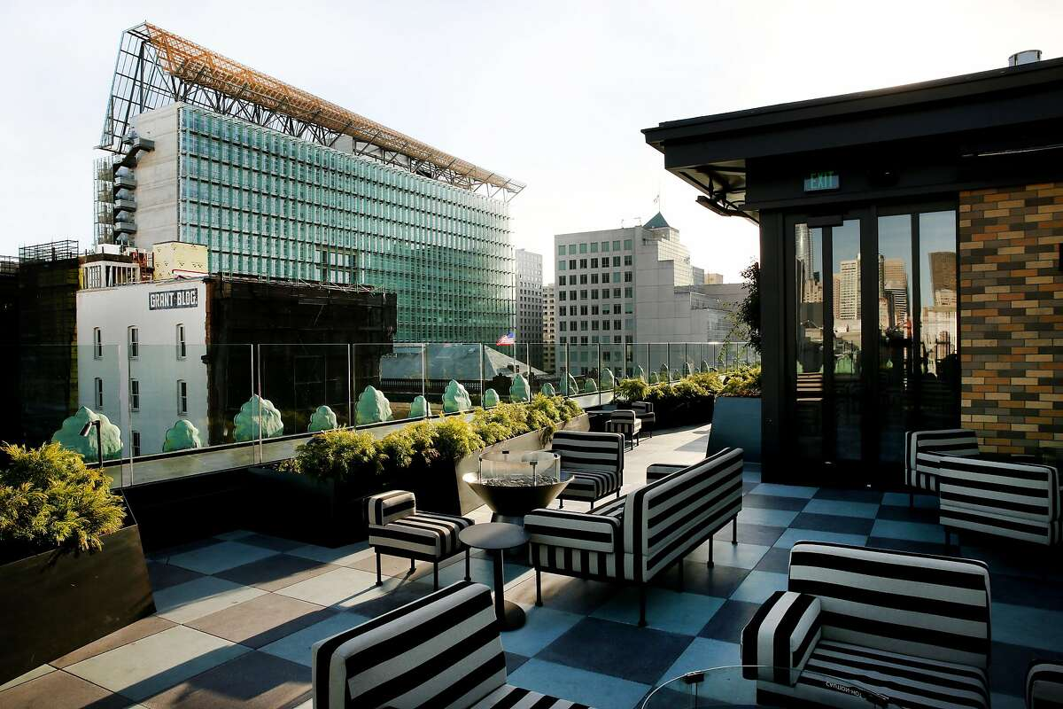 The rooftop terrace at Proper Hotel on Wednesday, Dec. 27, 2017, in San Francisco, Calif.