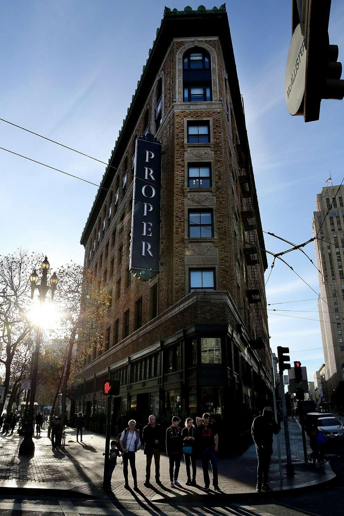 Proper Hotel, Wednesday, Dec. 27, 2017, in San Francisco, Calif.