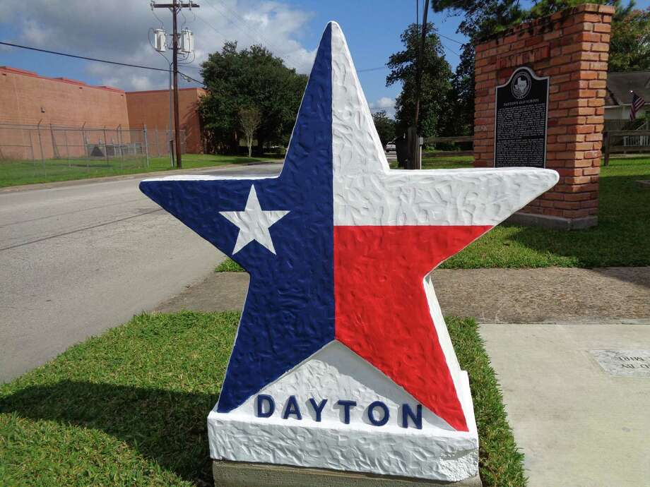 The Dayton Historical Society is selling these concrete markers for $300 to place in front of homes and businesses. Photo: Submitted